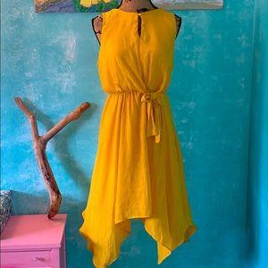 Mustard yellow Boho dress